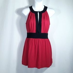 New York & Company Stretch Red Sleeveless Top